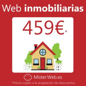 Diseño web para inmobiliarias 459€*