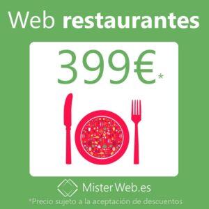 Diseño web para restaurantes 399€*