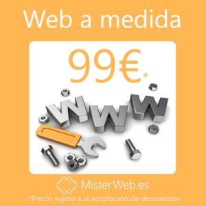 Diseño web a medida 99€*