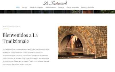 La tradizionale estrena una página web elegante y sólida